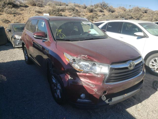 Salvage cars for sale from Copart Reno, NV: 2014 Toyota Highlander