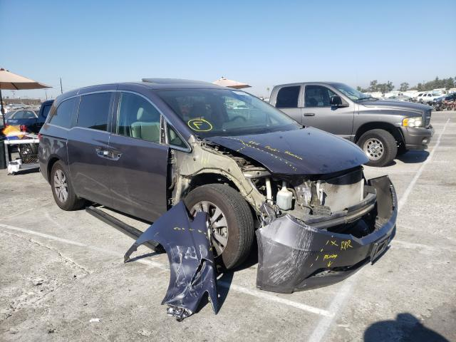 Salvage cars for sale from Copart Sun Valley, CA: 2016 Honda Odyssey EX