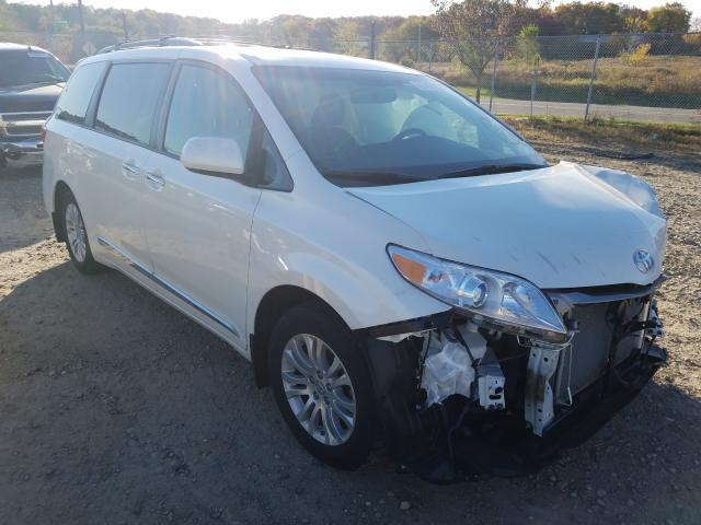 Salvage cars for sale from Copart Madison, WI: 2017 Toyota Sienna XLE