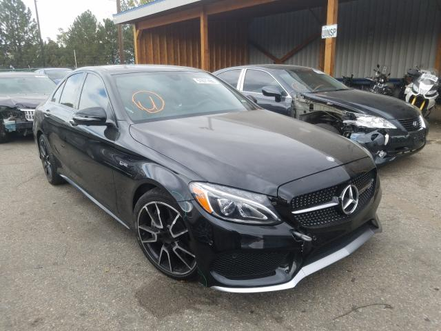 Salvage cars for sale at Brighton, CO auction: 2017 Mercedes-Benz C 43 4matic