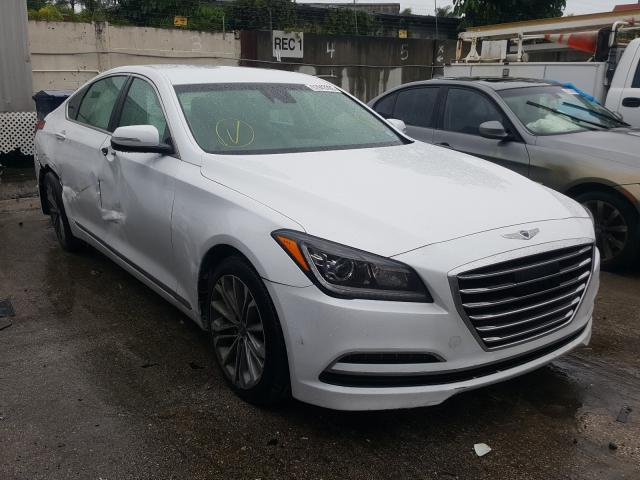 Salvage cars for sale from Copart Opa Locka, FL: 2017 Genesis G80 Base
