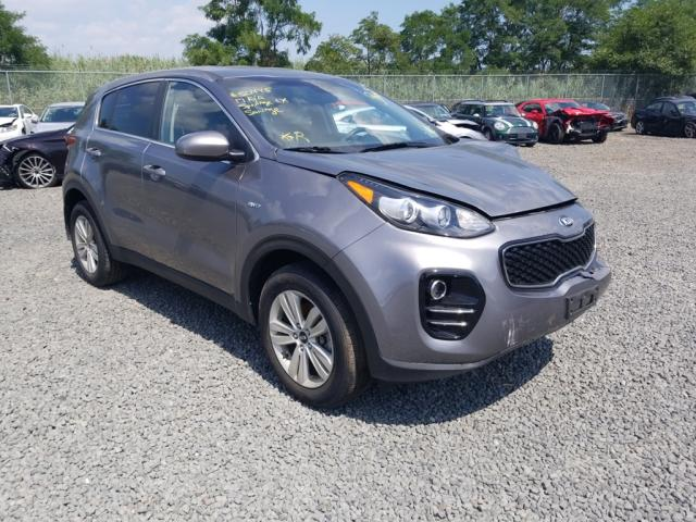 Salvage cars for sale from Copart Hillsborough, NJ: 2017 KIA Sportage L