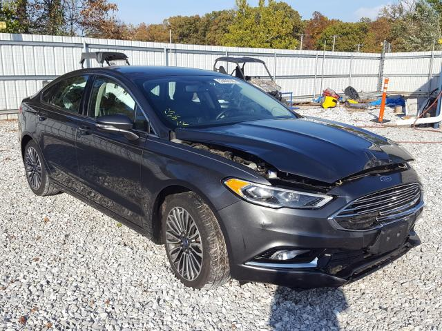 Salvage cars for sale at Rogersville, MO auction: 2017 Ford Fusion SE