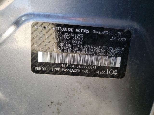 2020 Mitsubishi MIRAGE | Vin: ML32F4FJ8LHF08873