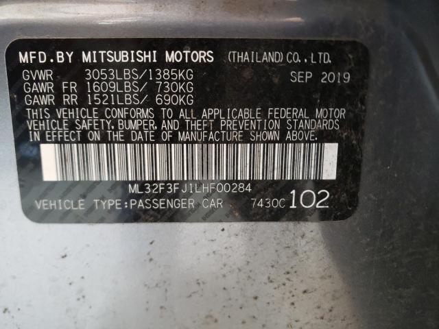 2020 MITSUBISHI MIRAGE G4 ML32F3FJ1LHF00284