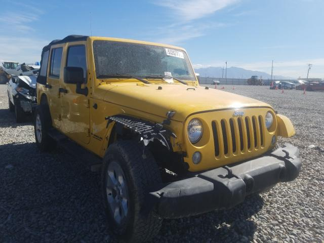 Salvage cars for sale at Magna, UT auction: 2015 Jeep Wrangler U