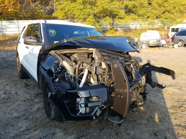 Salvage cars for sale from Copart Mendon, MA: 2017 Ford Explorer P