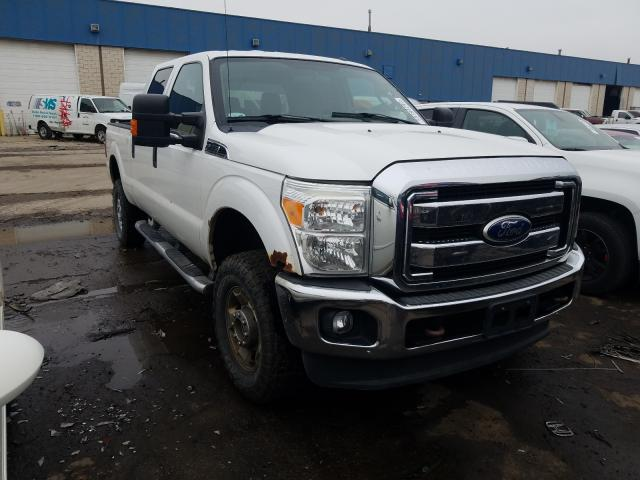 Salvage cars for sale from Copart Woodhaven, MI: 2011 Ford F250 Super