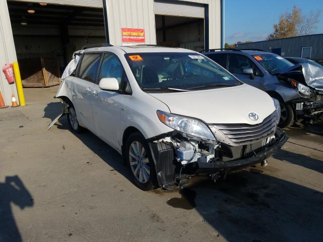 Salvage cars for sale from Copart Duryea, PA: 2017 Toyota Sienna XLE