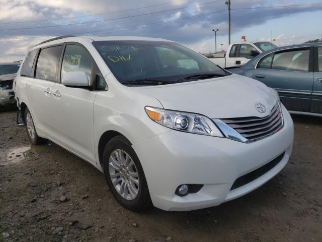 Salvage cars for sale from Copart Indianapolis, IN: 2016 Toyota Sienna XLE