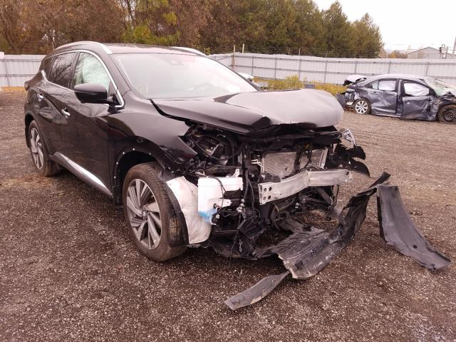 Salvage cars for sale from Copart London, ON: 2019 Nissan Murano S