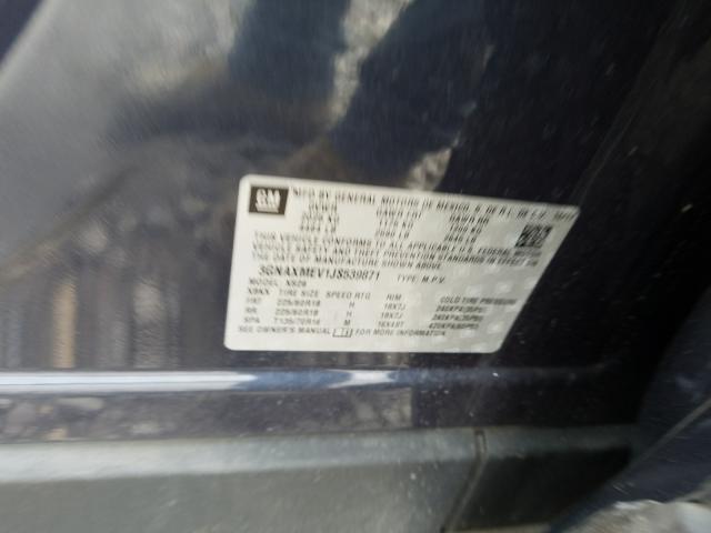 3GNAXMEV1JS539871 2018 Chevrolet Equinox Pr 1.5L