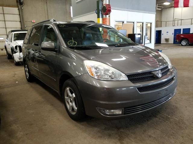 Salvage cars for sale from Copart Blaine, MN: 2004 Toyota Sienna XLE