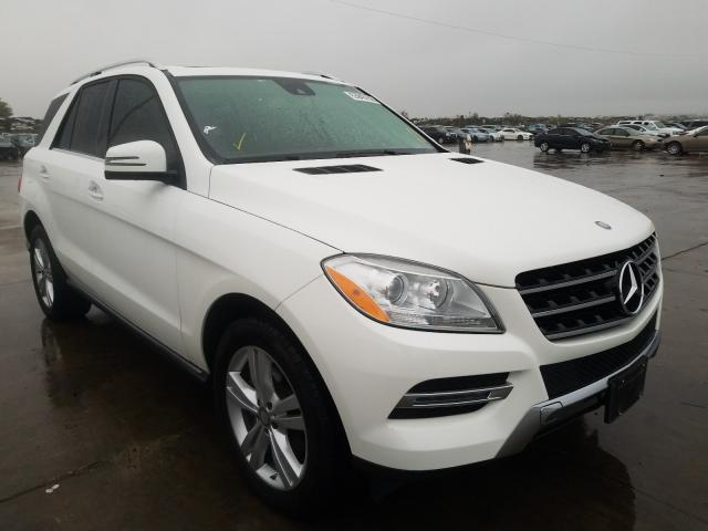 Salvage cars for sale from Copart Grand Prairie, TX: 2015 Mercedes-Benz ML 250 BLU