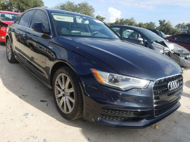 Salvage cars for sale from Copart Riverview, FL: 2012 Audi A6 Prestige