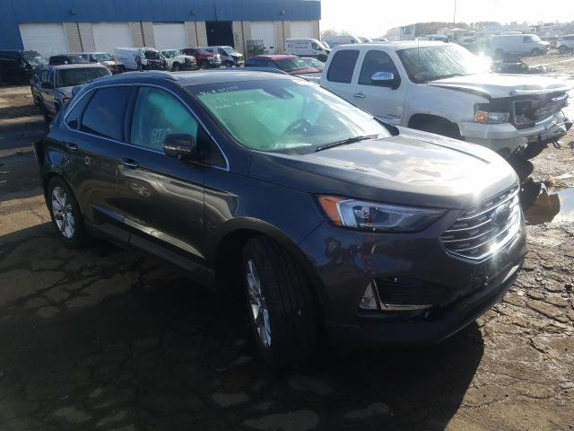 Salvage cars for sale from Copart Woodhaven, MI: 2020 Ford Edge Titanium