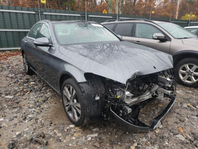 Salvage cars for sale from Copart Candia, NH: 2017 Mercedes-Benz C 300 4matic