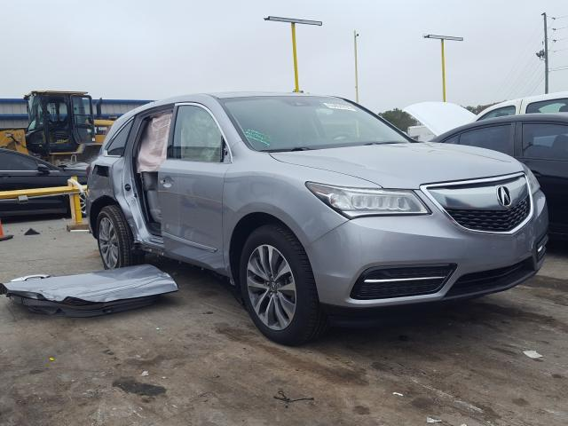Salvage cars for sale from Copart Lebanon, TN: 2016 Acura MDX Techno