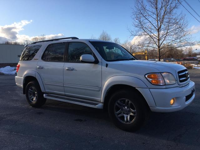 Salvage cars for sale from Copart Mendon, MA: 2003 Toyota Sequoia LI