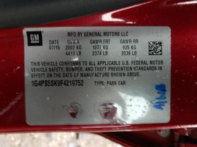 1G4PS5SK9F4219752 2015 Buick Verano 2.4L