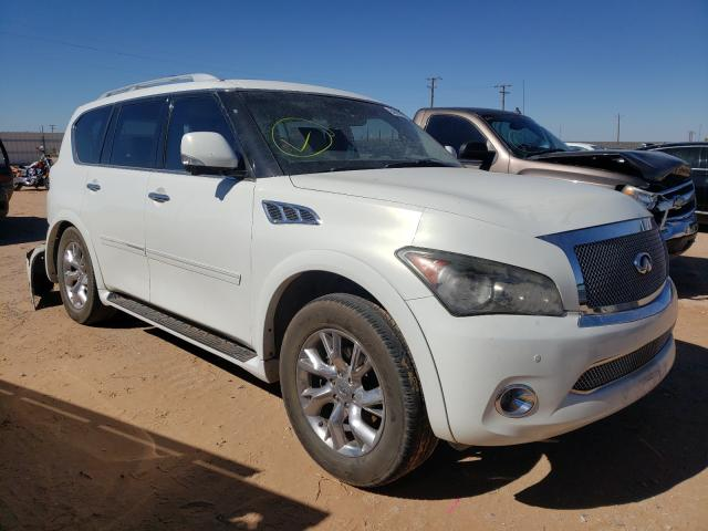 Salvage cars for sale from Copart Andrews, TX: 2012 Infiniti QX56
