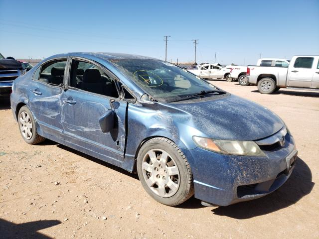 Salvage cars for sale at Andrews, TX auction: 2010 Honda Civic LX