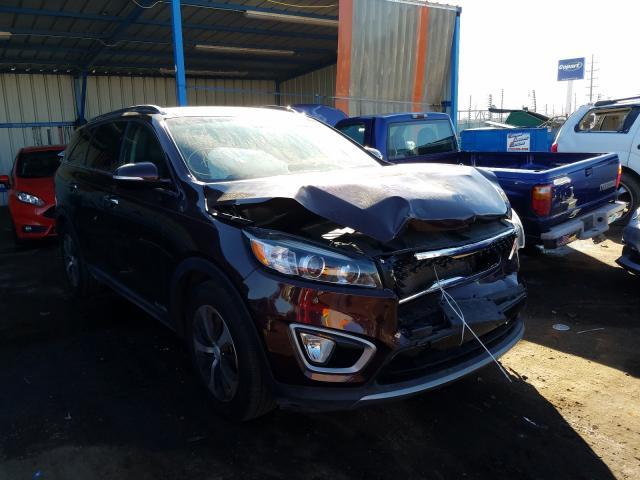 Salvage cars for sale from Copart Colorado Springs, CO: 2016 KIA Sorento EX
