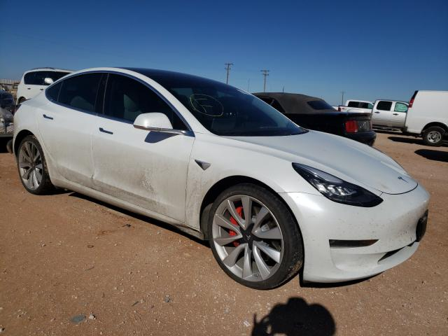 Salvage cars for sale from Copart Andrews, TX: 2019 Tesla Model 3