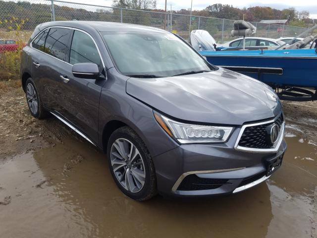 Salvage cars for sale from Copart Madison, WI: 2018 Acura MDX Techno