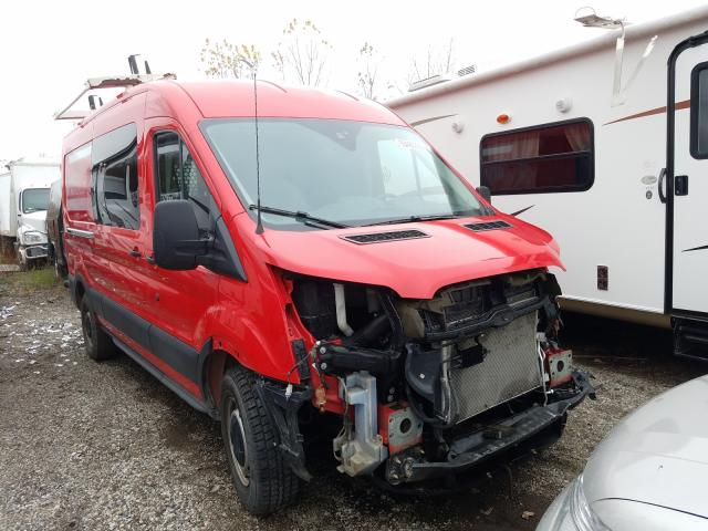 Salvage trucks for sale at Portland, MI auction: 2017 Ford Transit T
