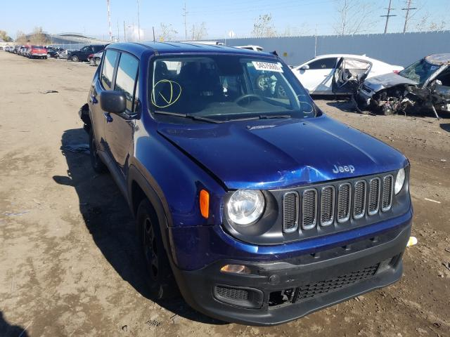 Salvage cars for sale at Hammond, IN auction: 2018 Jeep Renegade S