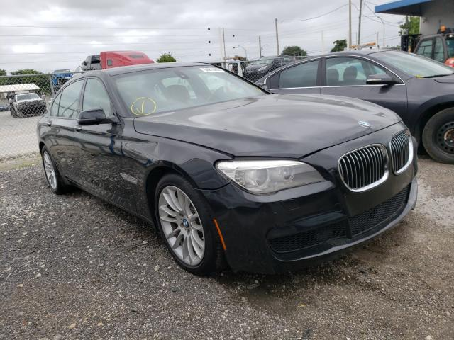 Salvage cars for sale from Copart Opa Locka, FL: 2014 BMW 740 LXI