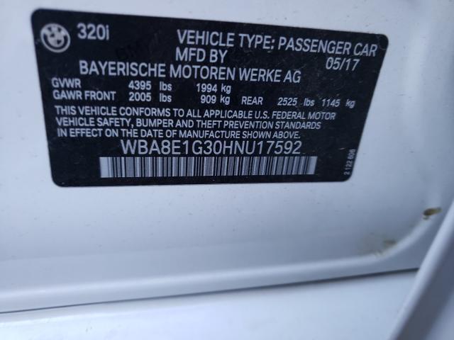 2017 BMW 320 I WBA8E1G30HNU17592