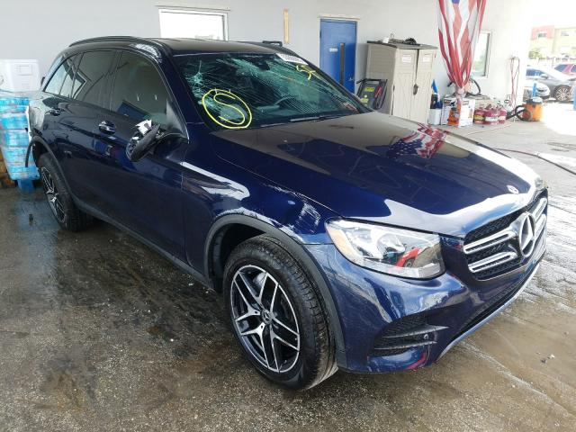 Salvage cars for sale from Copart Opa Locka, FL: 2018 Mercedes-Benz GLC 300