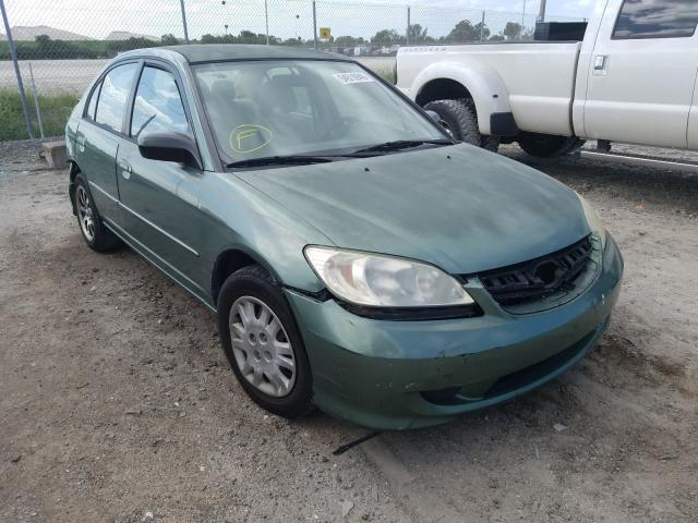 Honda Civic DX salvage cars for sale: 2004 Honda Civic DX