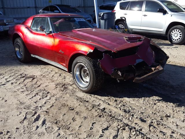 Salvage cars for sale from Copart Midway, FL: 1974 Chevrolet Corvette