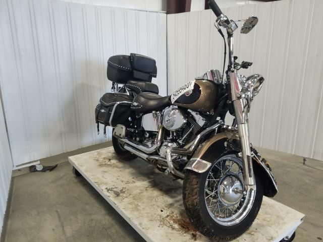 Salvage motorcycles for sale at Byron, GA auction: 2004 Harley-Davidson Flstci