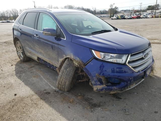 Salvage cars for sale from Copart Lexington, KY: 2015 Ford Edge Titanium