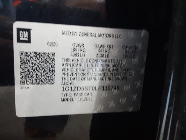 1G1ZD5ST0LF110749 2020 Chevrolet Malibu Lt 1.5L
