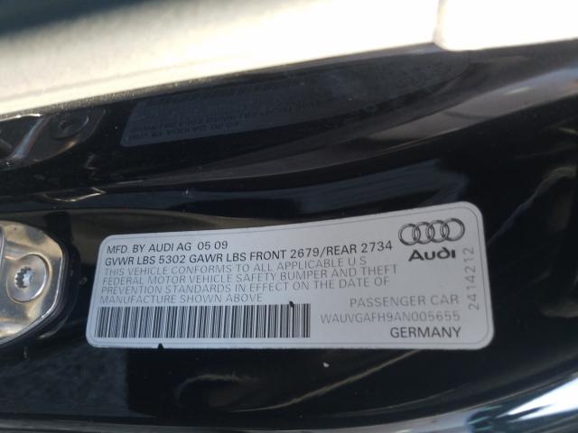WAUVGAFH9AN005655 2010 Audi S5 Prestig 3.0L