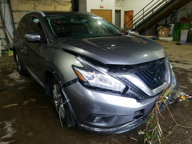 Salvage cars for sale from Copart Graham, WA: 2015 Nissan Murano S