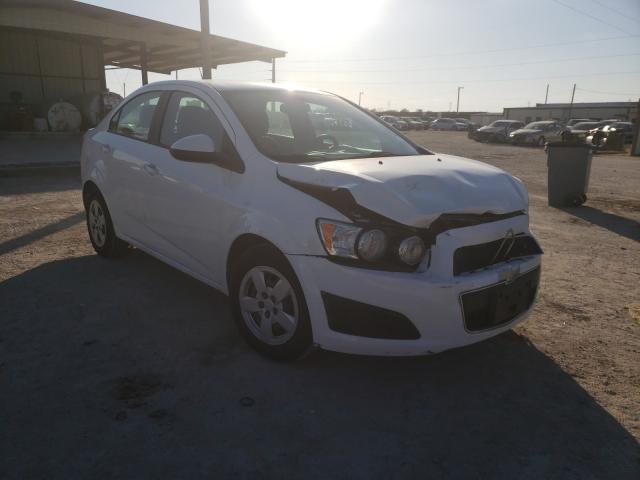 Salvage cars for sale from Copart Temple, TX: 2016 Chevrolet Sonic LS