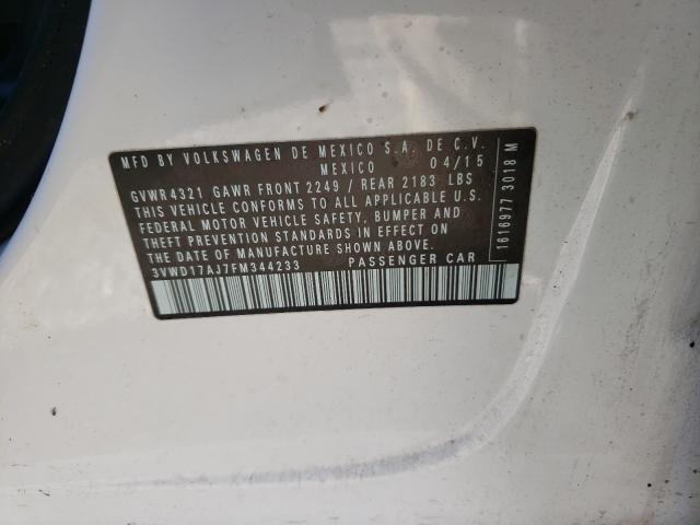 3VWD17AJ7FM344233 2015 Volkswagen Jetta Se 1.8L