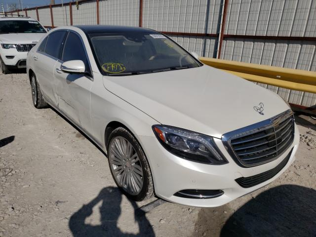 Mercedes-Benz S550 salvage cars for sale: 2015 Mercedes-Benz S550