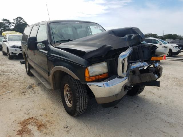 Salvage cars for sale from Copart Newton, AL: 2001 Ford Excursion