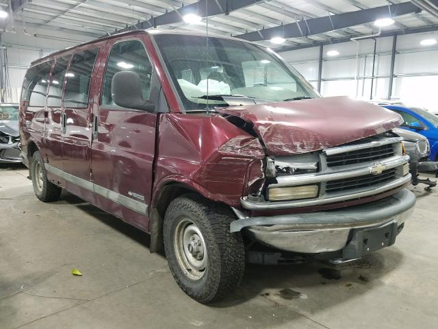 Salvage trucks for sale at Ham Lake, MN auction: 1999 Chevrolet Express G1
