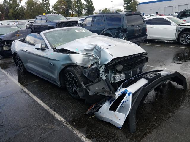 Salvage cars for sale from Copart Rancho Cucamonga, CA: 2019 Ford Mustang GT