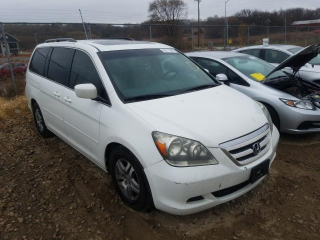 Salvage cars for sale from Copart Madison, WI: 2006 Honda Odyssey EX