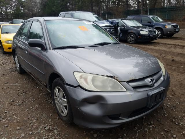 Honda Civic DX V salvage cars for sale: 2005 Honda Civic DX V