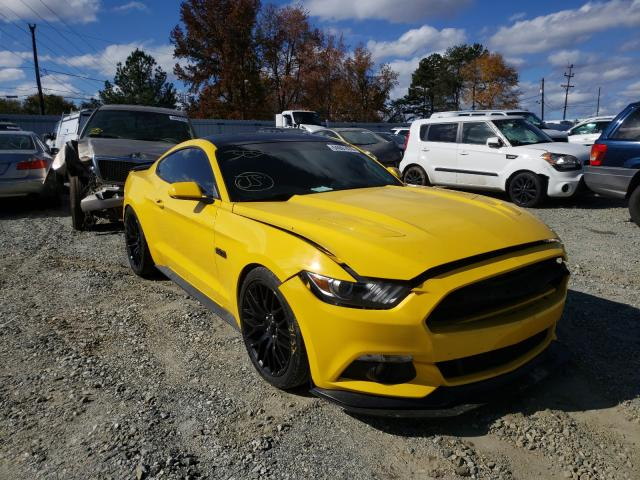 Salvage cars for sale from Copart Mebane, NC: 2016 Ford Mustang GT